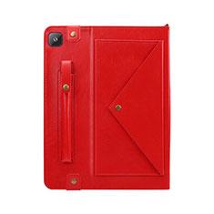Funda de Cuero Cartera con Soporte Carcasa L04 para Samsung Galaxy Tab S6 Lite 4G 10.4 SM-P615 Rojo