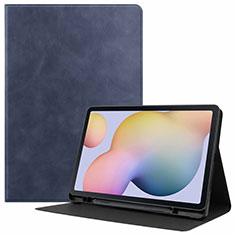 Funda de Cuero Cartera con Soporte Carcasa L04 para Samsung Galaxy Tab S7 11 Wi-Fi SM-T870 Azul