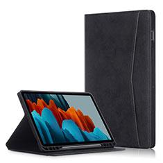 Funda de Cuero Cartera con Soporte Carcasa L04 para Samsung Galaxy Tab S7 Plus 5G 12.4 SM-T976 Negro
