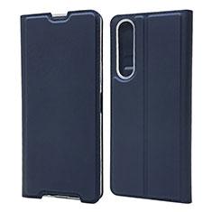 Funda de Cuero Cartera con Soporte Carcasa L04 para Sony Xperia 1 II Azul