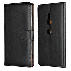 Funda de Cuero Cartera con Soporte Carcasa L04 para Sony Xperia XZ2 Negro