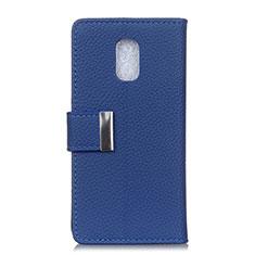 Funda de Cuero Cartera con Soporte Carcasa L05 para Asus ZenFone V Live Azul