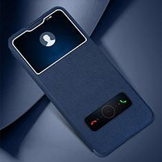 Funda de Cuero Cartera con Soporte Carcasa L05 para Huawei Honor Play4 Pro 5G Azul