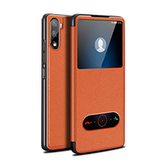 Funda de Cuero Cartera con Soporte Carcasa L05 para Huawei Mate 40 Lite 5G Naranja