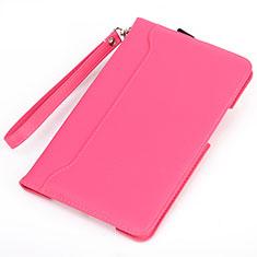 Funda de Cuero Cartera con Soporte Carcasa L05 para Huawei MatePad 10.4 Rosa Roja