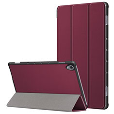 Funda de Cuero Cartera con Soporte Carcasa L05 para Huawei MatePad 10.8 Rojo Rosa
