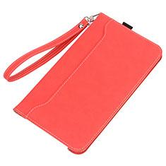 Funda de Cuero Cartera con Soporte Carcasa L05 para Huawei MatePad 5G 10.4 Rojo