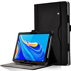 Funda de Cuero Cartera con Soporte Carcasa L05 para Huawei MediaPad M6 10.8 Negro