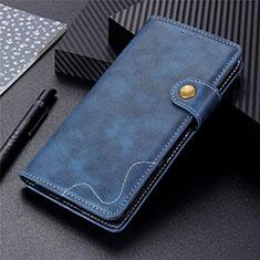 Funda de Cuero Cartera con Soporte Carcasa L05 para Motorola Moto G9 Power Azul