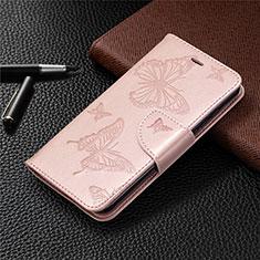 Funda de Cuero Cartera con Soporte Carcasa L05 para Nokia 1.3 Oro Rosa