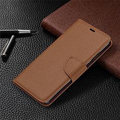 Funda de Cuero Cartera con Soporte Carcasa L05 para Nokia 5.3 Marron