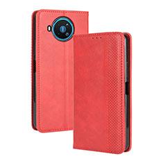 Funda de Cuero Cartera con Soporte Carcasa L05 para Nokia 8.3 5G Rojo