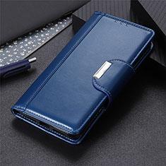 Funda de Cuero Cartera con Soporte Carcasa L05 para Oppo A8 Azul