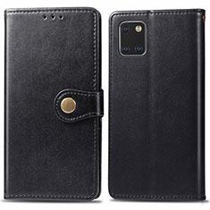 Funda de Cuero Cartera con Soporte Carcasa L05 para Samsung Galaxy A81 Negro