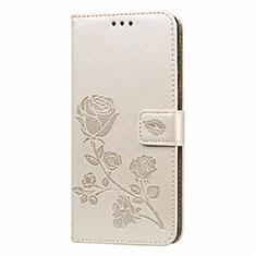 Funda de Cuero Cartera con Soporte Carcasa L05 para Samsung Galaxy M21s Oro
