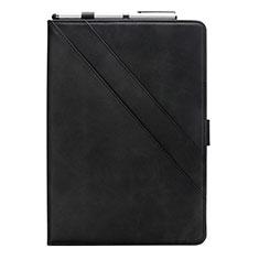 Funda de Cuero Cartera con Soporte Carcasa L05 para Samsung Galaxy Tab S6 Lite 4G 10.4 SM-P615 Negro