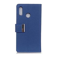 Funda de Cuero Cartera con Soporte Carcasa L06 para Asus Zenfone 5 ZS620KL Azul