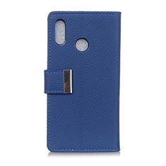 Funda de Cuero Cartera con Soporte Carcasa L06 para Asus Zenfone Max ZB555KL Azul