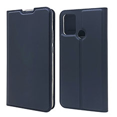 Funda de Cuero Cartera con Soporte Carcasa L06 para Huawei Honor 9A Azul