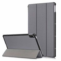 Funda de Cuero Cartera con Soporte Carcasa L06 para Huawei MatePad 10.4 Gris