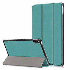 Funda de Cuero Cartera con Soporte Carcasa L06 para Huawei MatePad 10.4 Verde