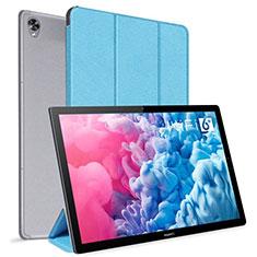 Funda de Cuero Cartera con Soporte Carcasa L06 para Huawei MatePad 10.8 Azul Cielo