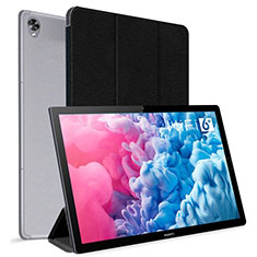 Funda de Cuero Cartera con Soporte Carcasa L06 para Huawei MatePad 10.8 Negro
