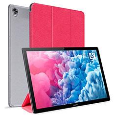 Funda de Cuero Cartera con Soporte Carcasa L06 para Huawei MatePad 10.8 Rojo
