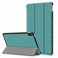 Funda de Cuero Cartera con Soporte Carcasa L06 para Huawei MatePad 5G 10.4 Verde