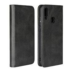 Funda de Cuero Cartera con Soporte Carcasa L06 para Huawei P Smart (2019) Negro