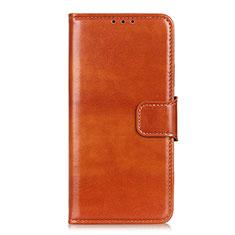 Funda de Cuero Cartera con Soporte Carcasa L06 para Huawei Y5p Naranja