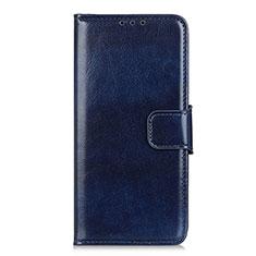 Funda de Cuero Cartera con Soporte Carcasa L06 para Huawei Y6p Azul