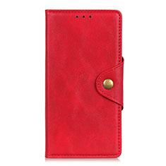 Funda de Cuero Cartera con Soporte Carcasa L06 para LG K62 Rojo