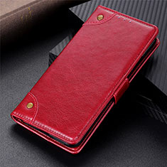 Funda de Cuero Cartera con Soporte Carcasa L06 para Motorola Moto G9 Plus Rojo