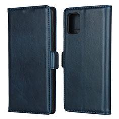 Funda de Cuero Cartera con Soporte Carcasa L06 para Samsung Galaxy A51 4G Azul