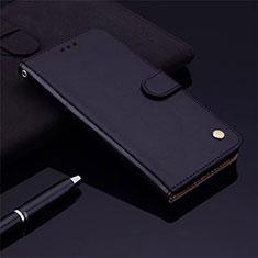 Funda de Cuero Cartera con Soporte Carcasa L06 para Samsung Galaxy M21s Negro