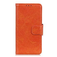 Funda de Cuero Cartera con Soporte Carcasa L06 para Samsung Galaxy S21 Ultra 5G Naranja