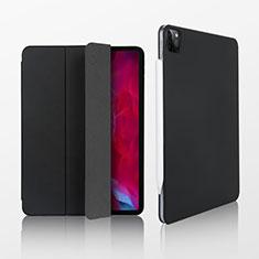 Funda de Cuero Cartera con Soporte Carcasa L07 para Apple iPad Pro 12.9 (2020) Negro