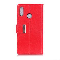 Funda de Cuero Cartera con Soporte Carcasa L07 para Asus Zenfone 5 ZS620KL Rojo