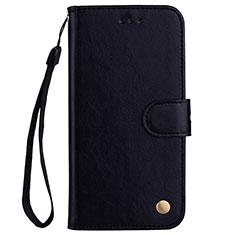 Funda de Cuero Cartera con Soporte Carcasa L07 para Huawei P20 Lite Negro