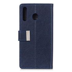 Funda de Cuero Cartera con Soporte Carcasa L07 para Huawei Y6p Azul