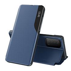 Funda de Cuero Cartera con Soporte Carcasa L07 para Huawei Y7a Azul