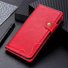 Funda de Cuero Cartera con Soporte Carcasa L07 para LG K42 Rojo