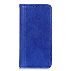 Funda de Cuero Cartera con Soporte Carcasa L07 para LG Q52 Azul