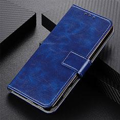 Funda de Cuero Cartera con Soporte Carcasa L07 para Motorola Moto G9 Plus Azul