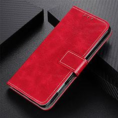 Funda de Cuero Cartera con Soporte Carcasa L07 para Motorola Moto G9 Plus Rojo