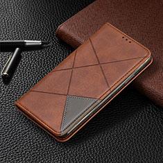 Funda de Cuero Cartera con Soporte Carcasa L07 para Samsung Galaxy A41 Marron