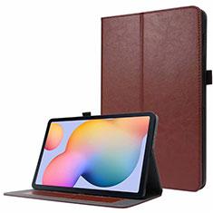 Funda de Cuero Cartera con Soporte Carcasa L07 para Samsung Galaxy Tab S7 11 Wi-Fi SM-T870 Marron