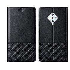 Funda de Cuero Cartera con Soporte Carcasa L07 para Vivo X50 Lite Negro