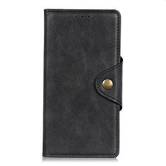 Funda de Cuero Cartera con Soporte Carcasa L07 para Xiaomi Mi Note 10 Lite Negro